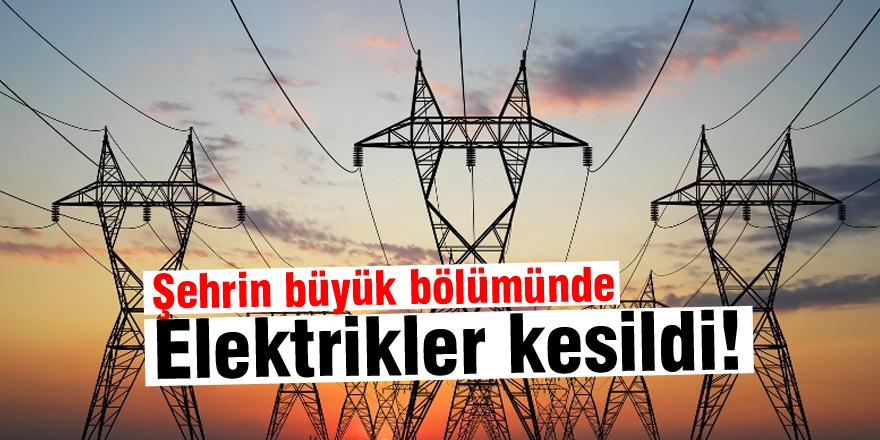 Konya'da büyük elektrik kesintisi