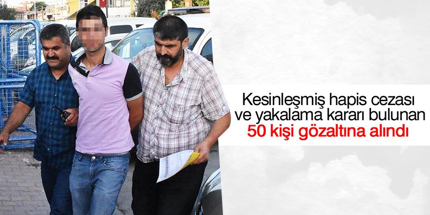 Konya'da aranan kişilere operasyon: 50 gözaltı