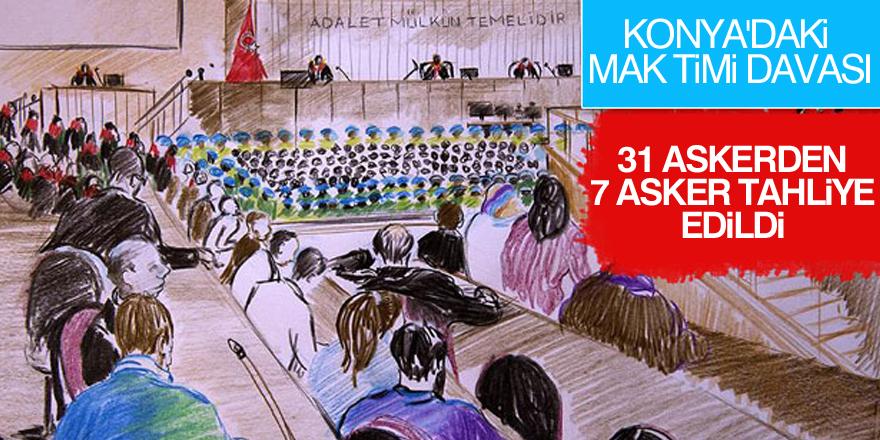 Konya'da MAK timi davasında: 7 tahliye