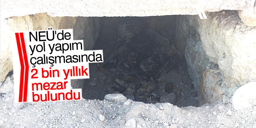 """İnşaat alanında """"Geç Roma"""" dönemine ait mezar bulundu"""