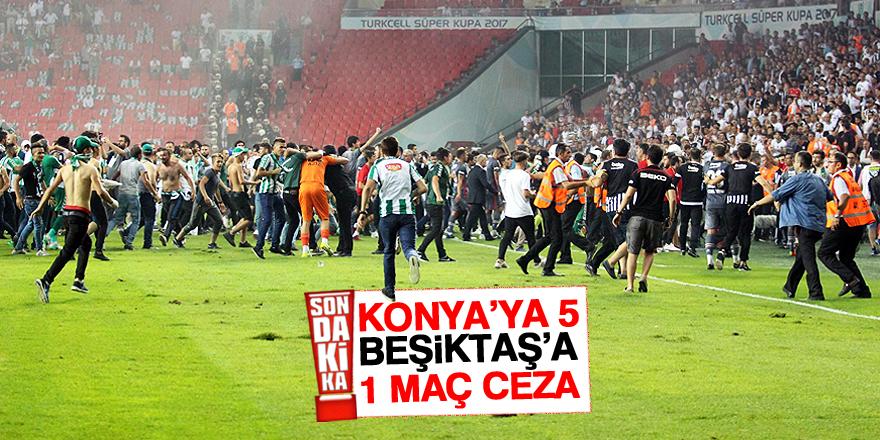 PFDK'dan Beşiktaş ve Konyaspor'a ceza