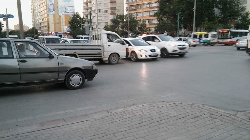 Sille kavşağında trafik ışıkları çalışmıyor