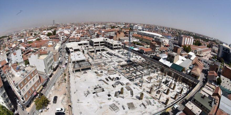 Tarihi Osmanlı Buğday Pazarındaki otopark tamamlanıyor
