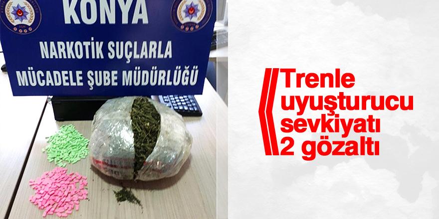 Trenle uyuşturucu sevkiyatı : 2 gözaltı