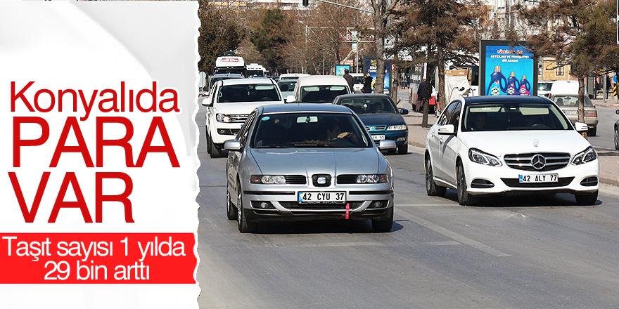 Konya'da taşıt sayısı 1 yılda 29 bin arttı