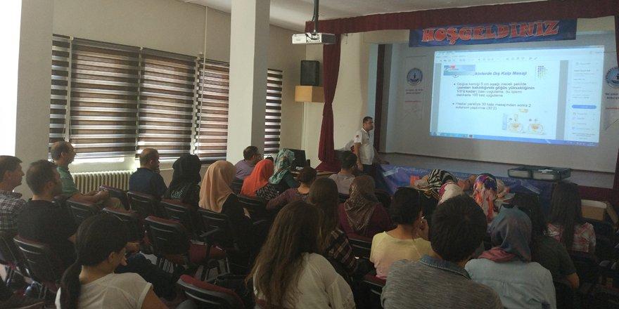 Bozkır'da öğretmenlere ilk yardım semineri