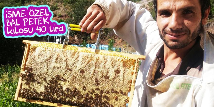 Taşkentli vatandaş arılara petekte ismini yazdırdı