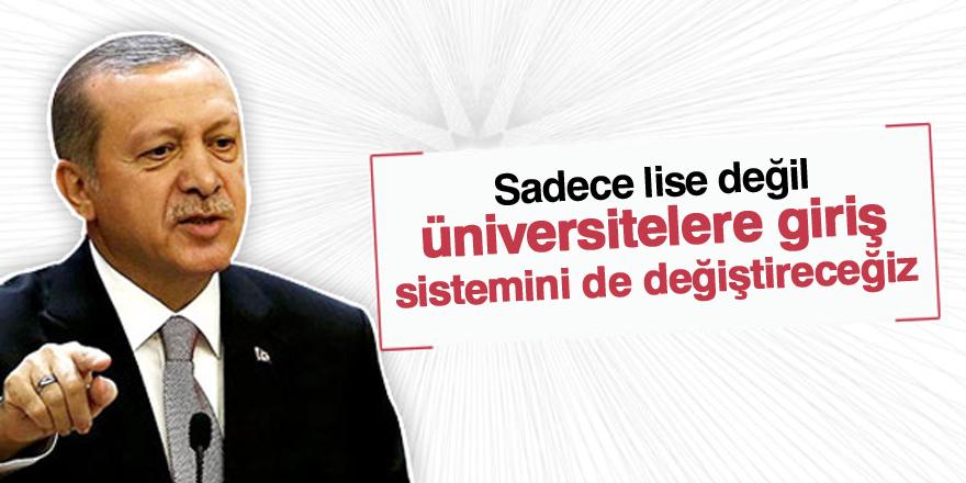 Erdoğan'dan üniversite sınavı yorumu