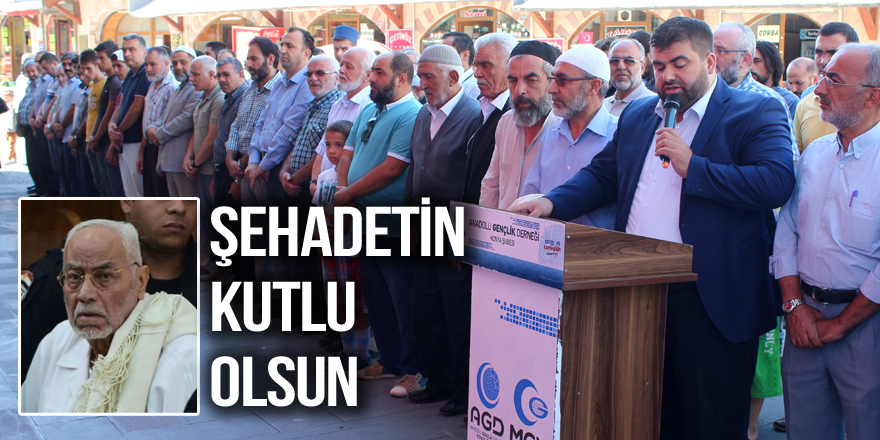 Mehdi Akif için Konya'da gıyabi cenaze namazı kılındı