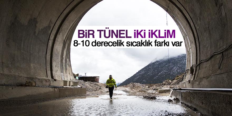 Demirkapı tünelinin iki uçunda 8-10 derecelik sıcaklık farkı
