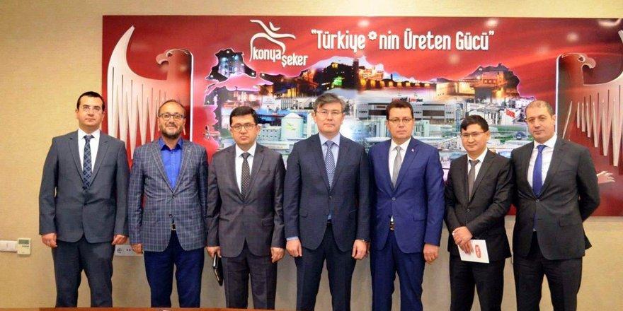 Kazakistan heyeti Konya Şeker'de