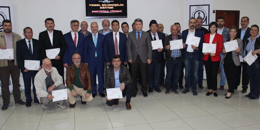 24 kursiyere sertifikaları verildi