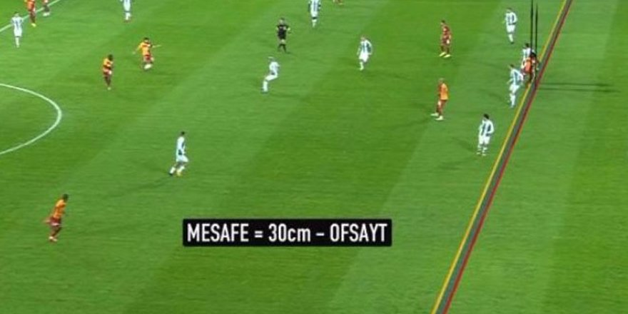 Galatasaray'ın ilk golü ofsayt