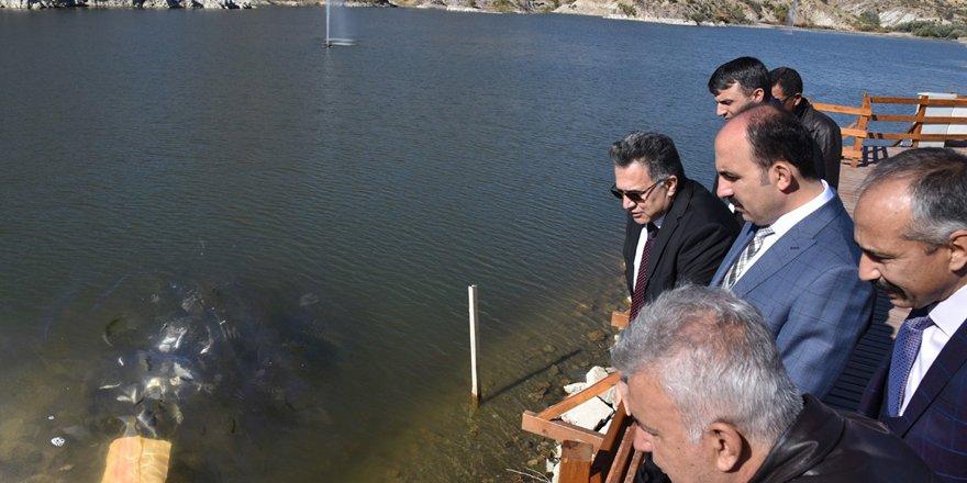Sille Barajı'na 35 bin yavru balık bırakıldı