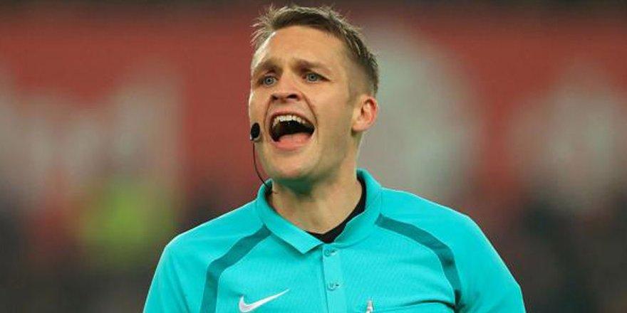 Salzburg maçını İngiliz hakem yönetecek