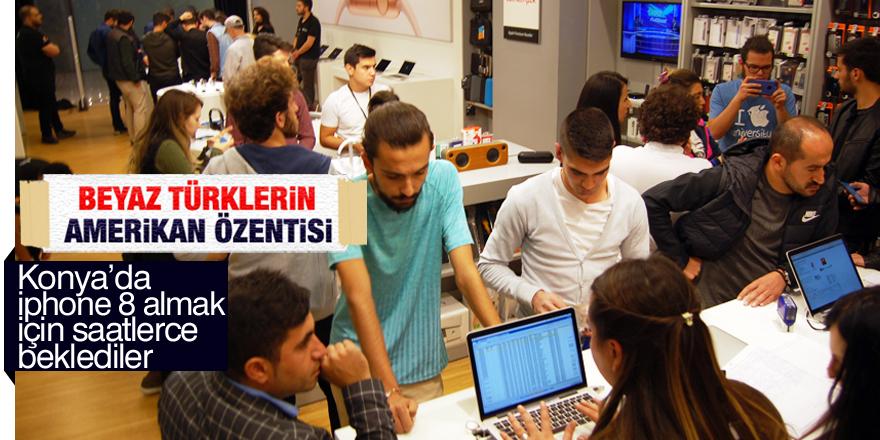 Konya'da iPhone 8 yoğunluğu