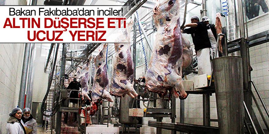 Bakan Fakıbaba: Altın düşerse eti ucuz yeriz