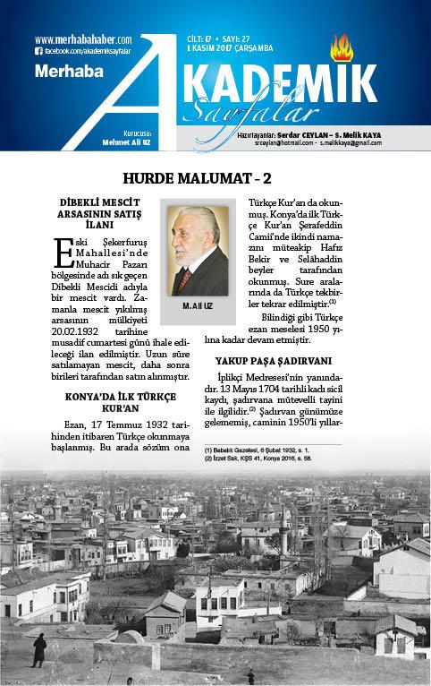 Cilt-17, Sayı-27, 1 Kasım 2017