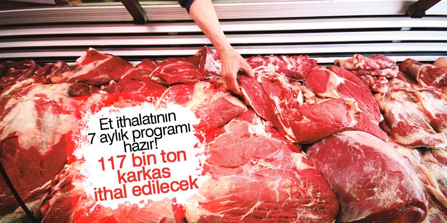 Et ithalatının 7 aylık programı hazır