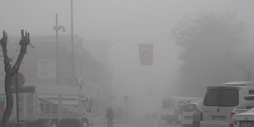 Kulu'da sis yoğunluğu