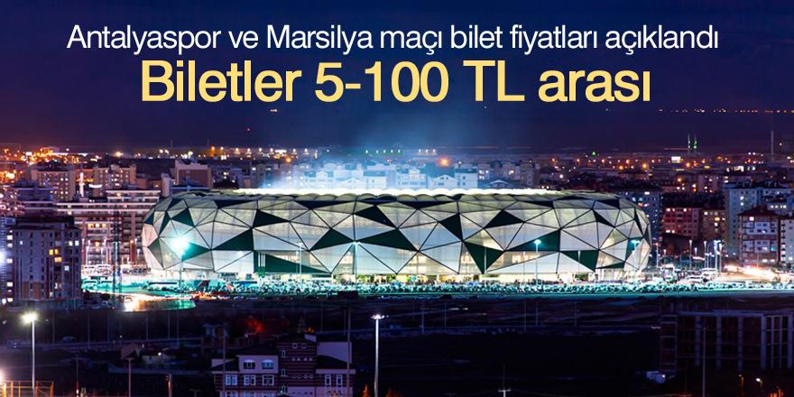 Antalyaspor ve Marsilya maçı bilet fiyatları açıklandı