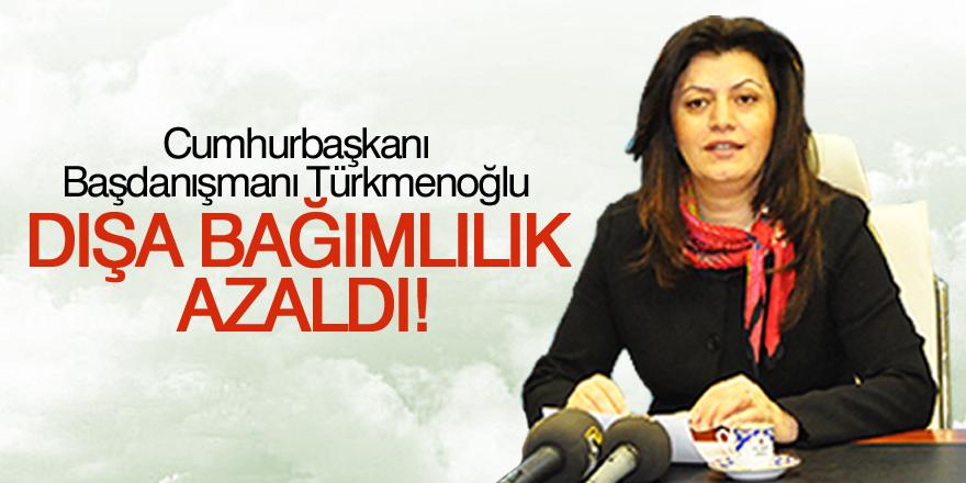 Türkmenoğlu:  Türkiye'de dışa bağımlılığın azaldığını söyledi