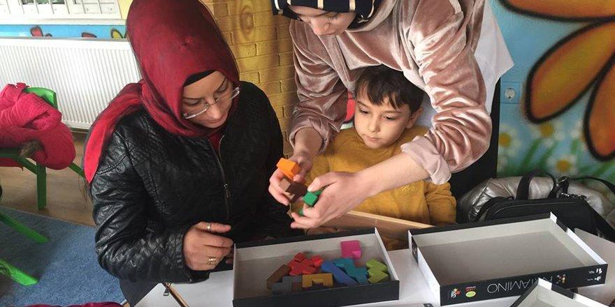 Akıl oyunları dersine aileler de katıldı