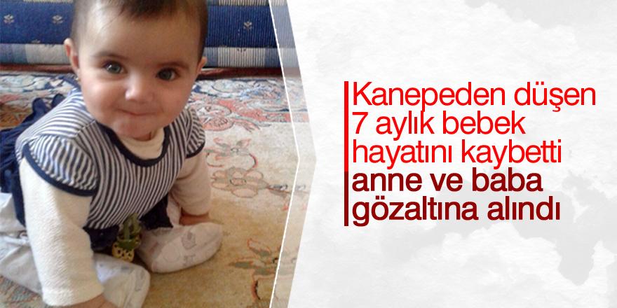 Kanepeden düşen 7 aylık bebek hayatını kaybetti