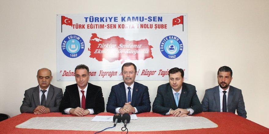 Türk Eğitim-Sen yeni yönetimini tanıttı