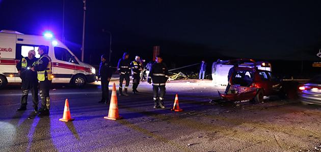 AK Parti kafilesi kaza yaptı: 9 yaralı