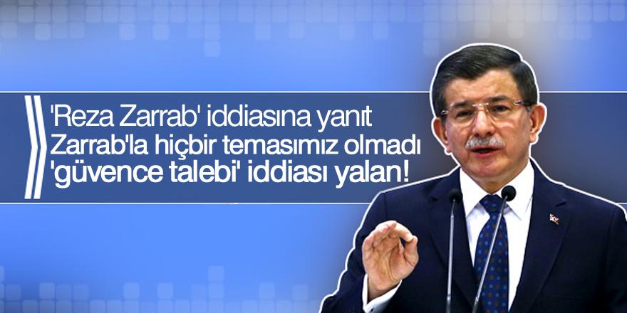 Ahmet Davutoğlu'ndan 'Reza Zarrab' iddiasına yanıt