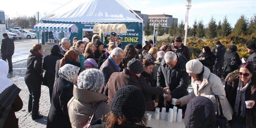 Karatay Belediyesi salep ikram edecek