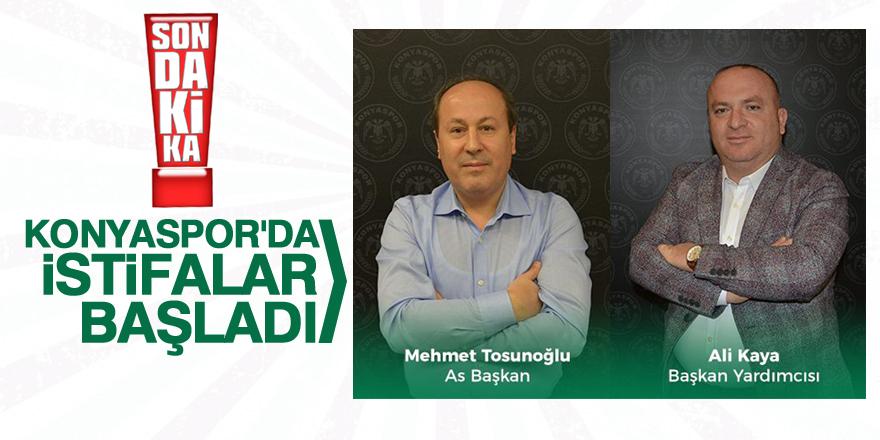Konyaspor'da istifa depremi