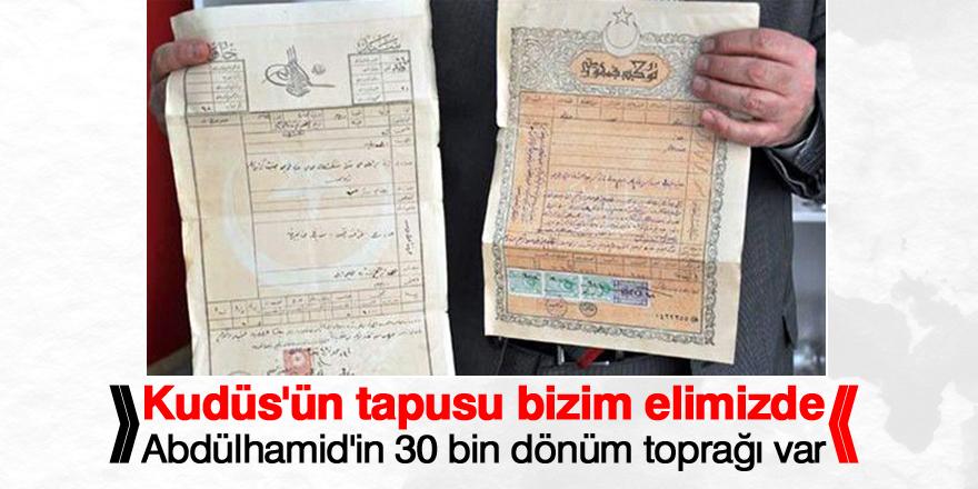 Kudüs'ün tapuları Türkiye'nin elinde! ile ilgili görsel sonucu