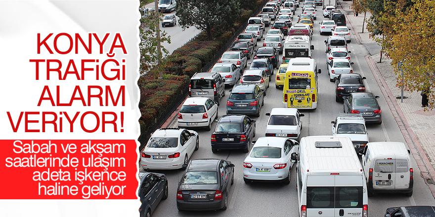 Konya trafiği alarm veriyor!