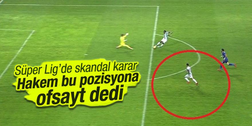 Konyaspor Karabük maçında skandal hata