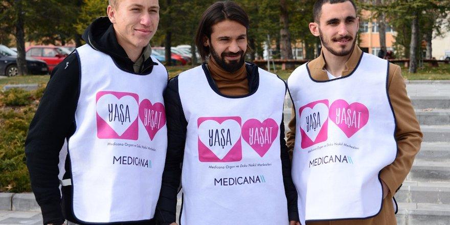 Konyasporlu oyuncular sağlık etkinliğine katıldı