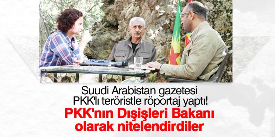 Suudi Arabistan gazetesi PKK'lı teröristle röportaj yaptı!