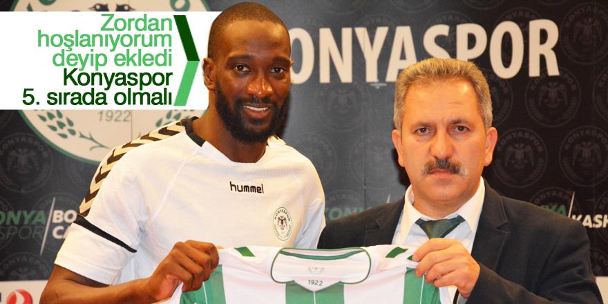 Yatabare: Konyaspor 5. sırada olmalı