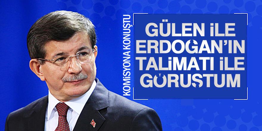Davutoğlu: Talimatı Erdoğan'dan aldım