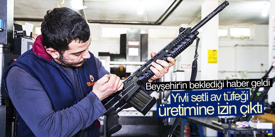 Yivli setli av tüfeği üretimine izin çıktı