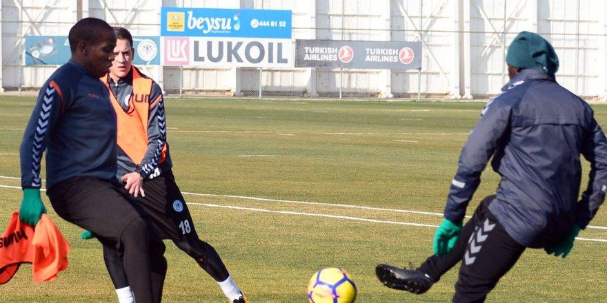 Atiker Konyaspor Trabzonspor maçı hazırlıklarına devam etti