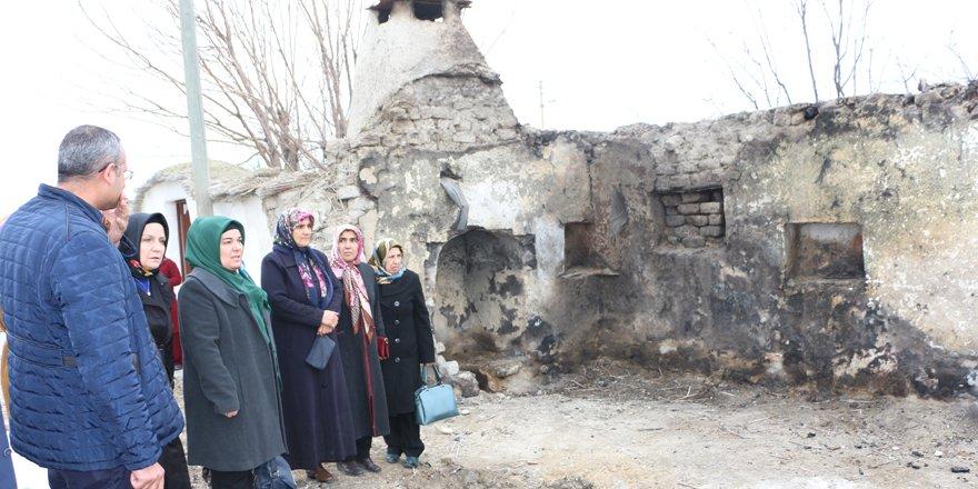 Evi yanan Koçlar ailesine sahip çıkıldı