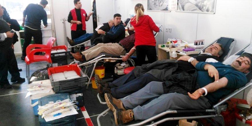 Seydişehir'de Türk Kızılay'ına kan bağışı