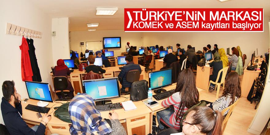 KOMEK ve ASEM kayıtları başlıyor