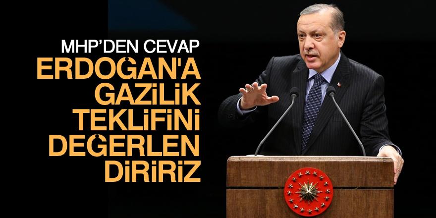 MHP: Erdoğan'a 'gazi' unvanı verilmesi teklifini değerlendiririz