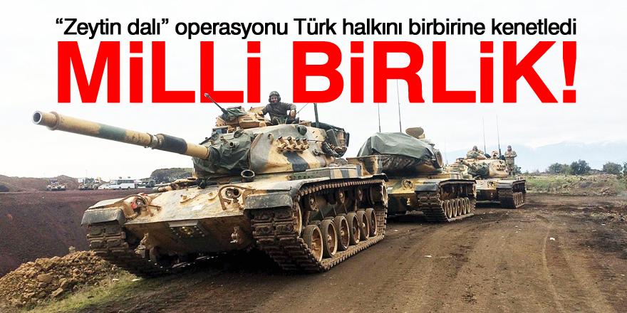 Türk milleti kenetlendi