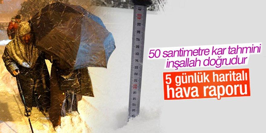 Konya'ya yoğun kar yağması bekleniyor
