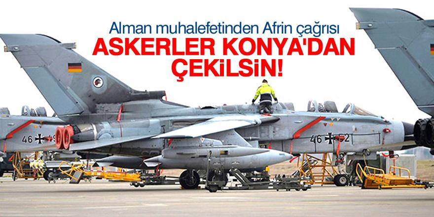 Alman Sol Parti: Askerlerimiz Konya'dan çekilsin