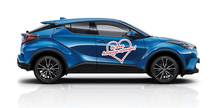 Toyota alana çekilişsiz Avrupa bileti sürprizi